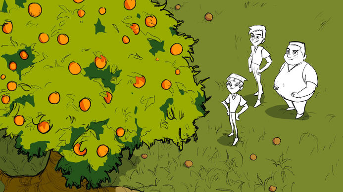 """The Boys and the Orange Tree"""