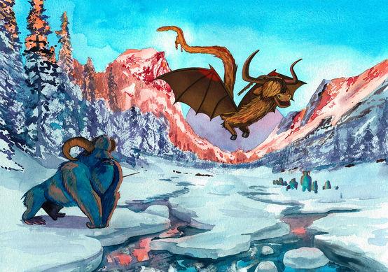 L'Ixtaxarilla et le Dragon Laineux des Highlands de Tahreyum