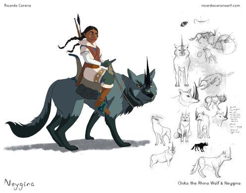 Chiko the Rhino Wolf & Neygina