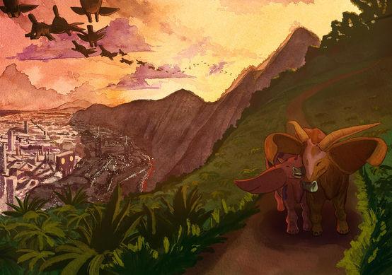 Éléphant Toros du bassin de Manjuinelo
