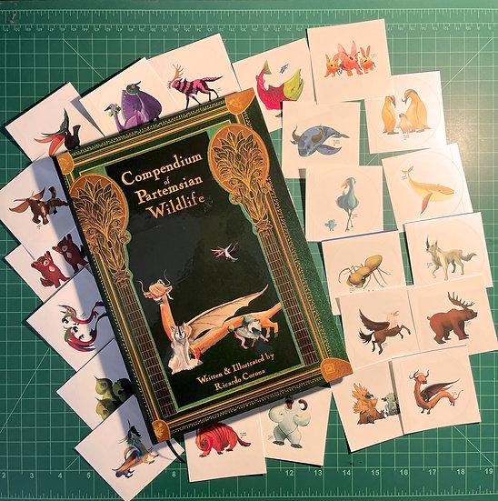 Compendium of Partemsian Wildlife & Sticker Set