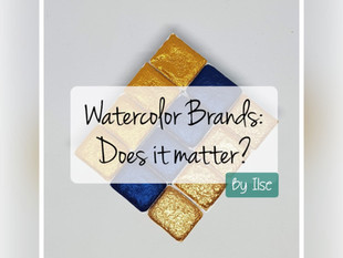 Watercolor brands: does it matter?
