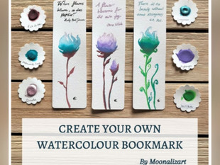 Create your own Watercolor Bookmark