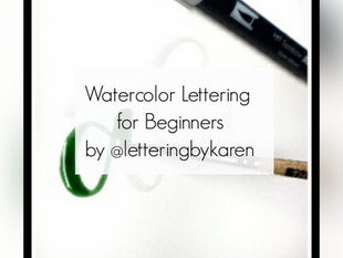 Watercolor Lettering for Beginners