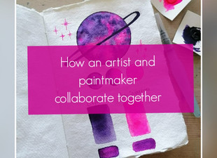 How an artist and paint-maker collaborate together