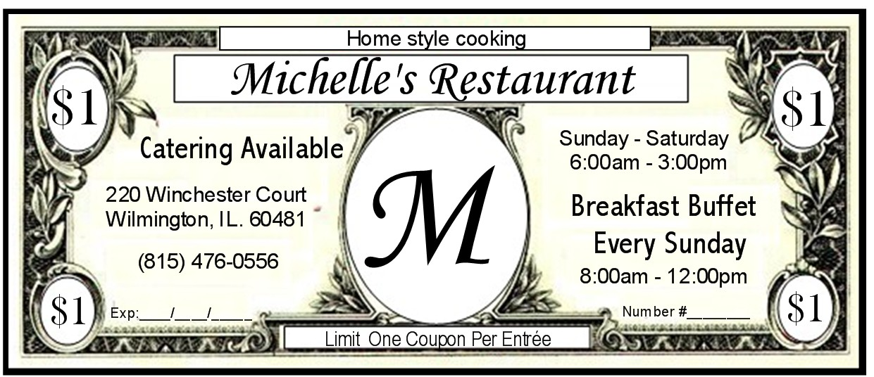 MICHELLE'S Coupon