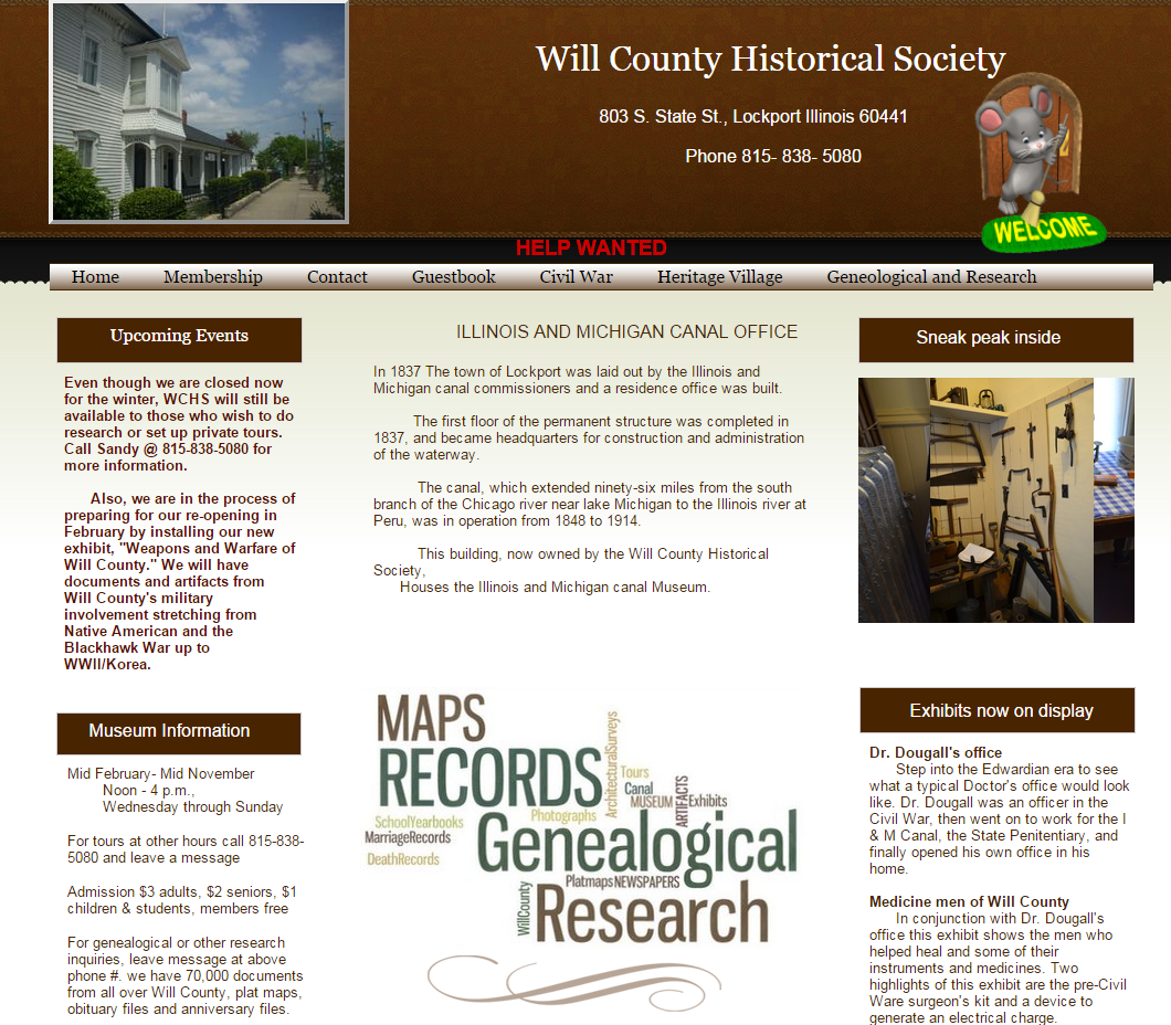 Will county historical society