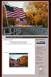 Joe Cotton Memorial Flags