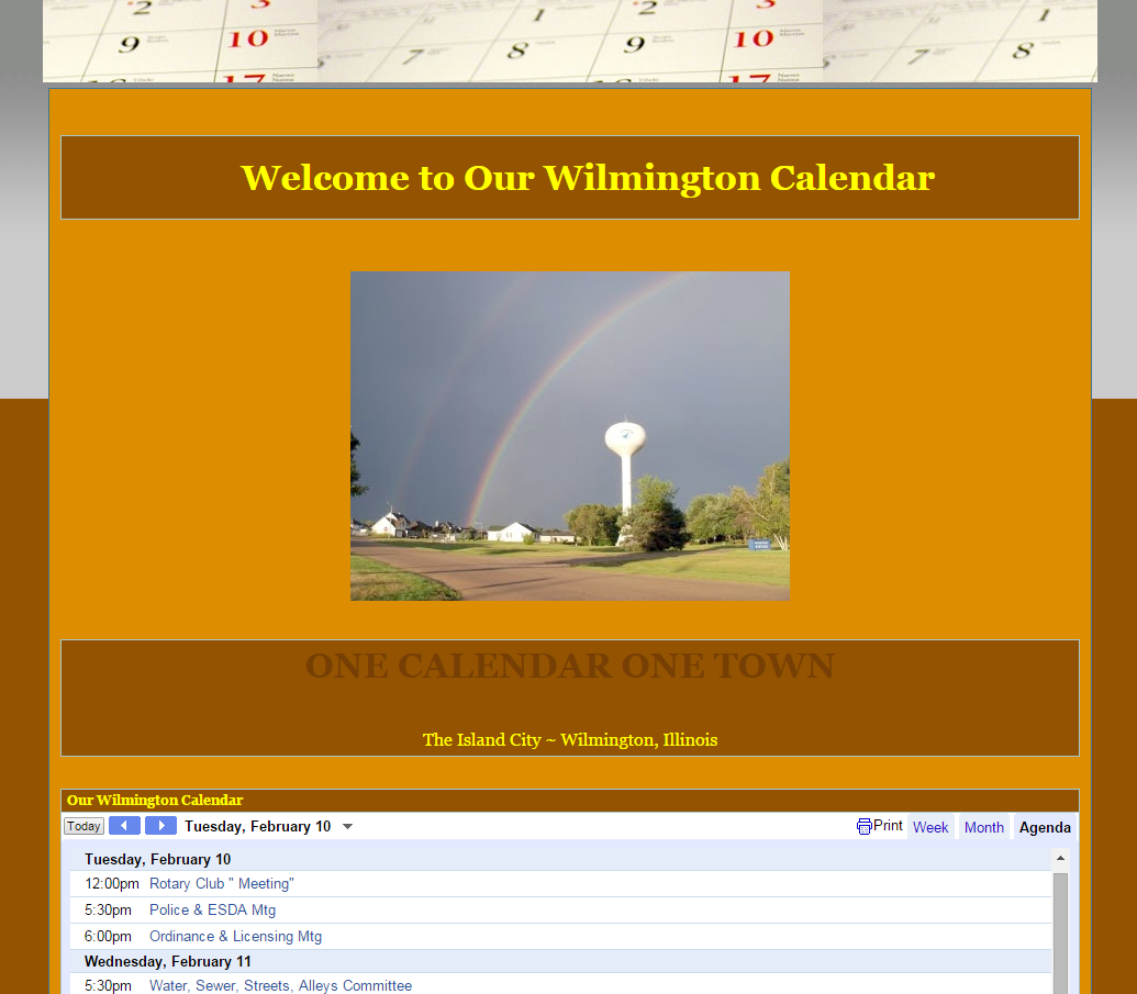 Welcome to Our Wilmington Calendar