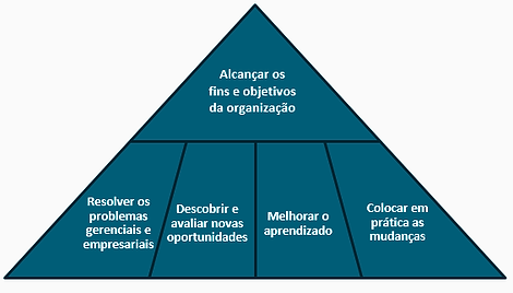 Alcançar os fins e objetivos da organização
