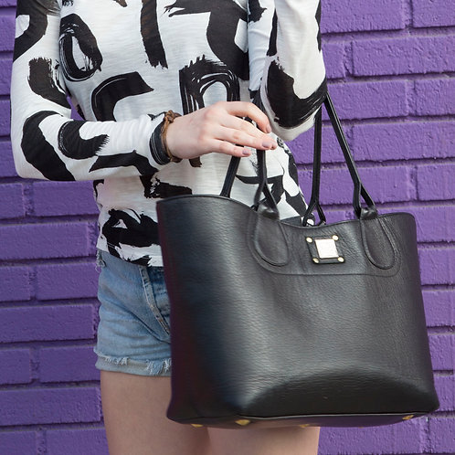 The MeaTote & Slouch Pouch, Noir