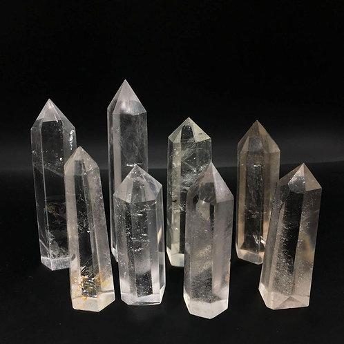 8pcs Clear Quartz Crystals Wand Points
