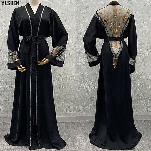 Embroidered Back Robe