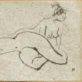 Nude-2910 (9x14.5in) Black Ink on Hanji