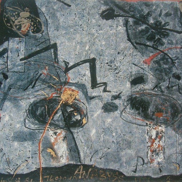 Abyss-9145 (72x90.5in) Mixed Media on Hanji