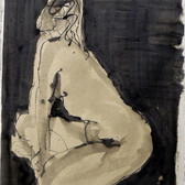Nude-2915 (17x12in) Black Ink on Paper