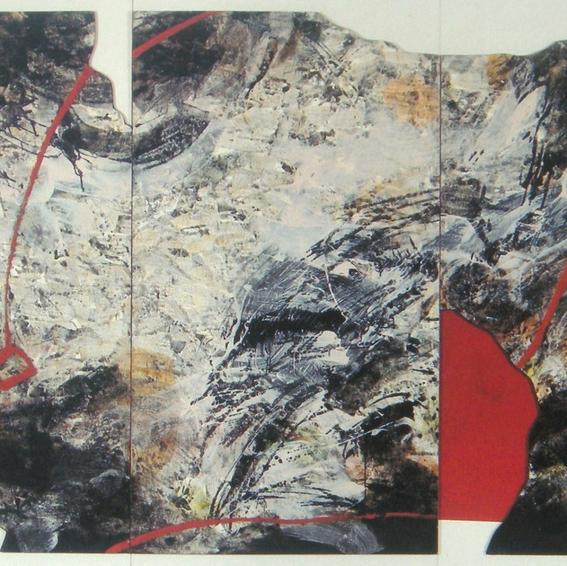 Abyss-9201 (71x106.5in) Mixed Media on Hanji