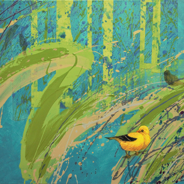 Timeless-1701 (30x40in) Mixed Media with Hanji collage