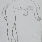Nude-2903 (17.75x14.25in) Black Ink on Paper