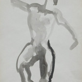 Nude-2909 (14x10.5in) Black Ink on Paper
