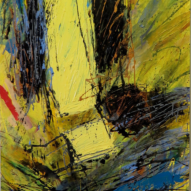 Abyss-1601 (48x36in) Acrylic on Canvas
