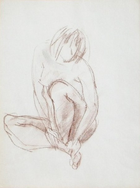 Nude-2911 (12x9in) Conté on Paper