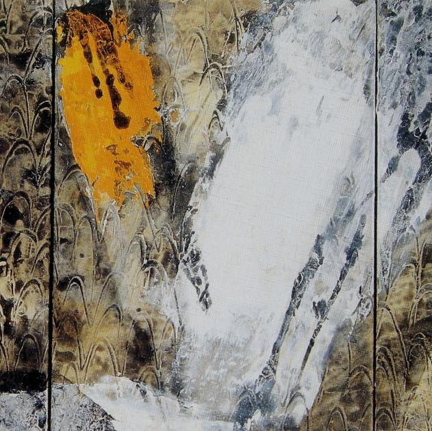 Abyss-9305 (15x30) Mixed Media on Hanji