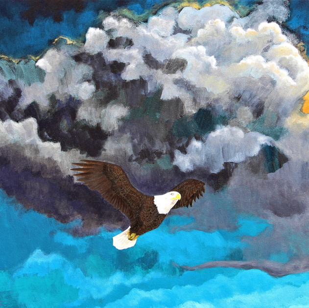 Timeless2012, bald eagle_24x36in_Acrylic