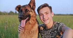 teen with german shepherd .jpg