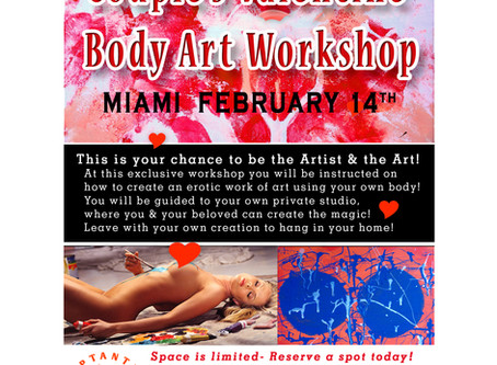 2020/02/14 Couple's Valentine Body Art Workshop Miami