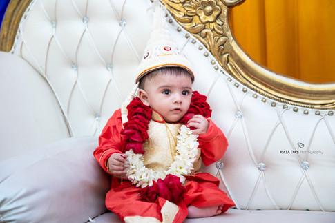 baby rice ceremony photography