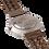 """Thumbnail: AM110 / BF / """"Silber Walnuss"""" - Leder dunkelbraun geflochten"""