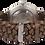 """Thumbnail: AM110 / BF / """"Silber Kirsche"""" - Leder dunkelbraun geflochten"""