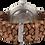 """Thumbnail: AM120 / BF / """"Silber Kirsche"""" - Leder hellbraun geflochten"""