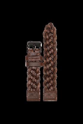AM15 / Leder - dunkelbraun geflochten | 18mm