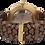 "Thumbnail: AM110 / BF / ""Goldene Eiche"" - Leder dunkelbraun geflochten"