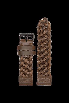 AM110 / Leder - dunkelbraun geflochten | 24mm