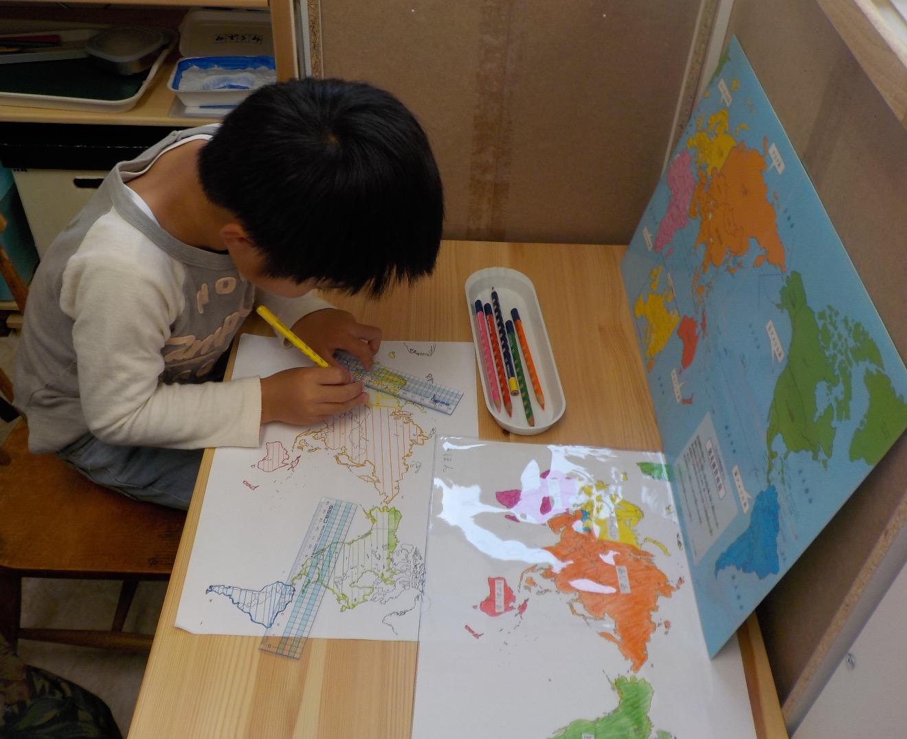 世界地図(大陸)