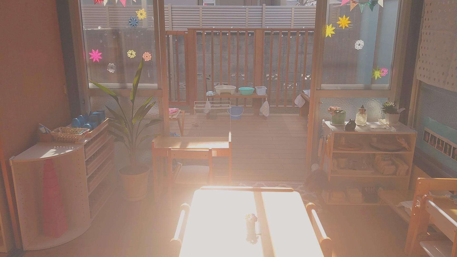 お庭に面した明るい教室で開講します