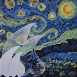 Billenbeestjes in nacht van Van Gogh