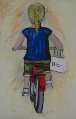 Meisje op de fiets