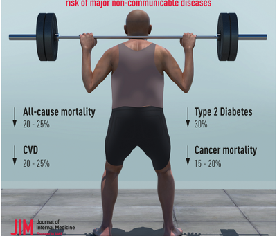 How muscle strength activities could reduce risk of cardiovascular disease, Diabetes and mortality