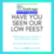 Health Wise Chiropractic in Sunbury and Bundoora proudly offers LOW FEES