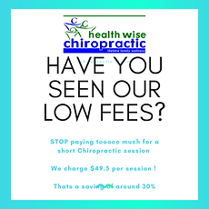 Health Wise Chiropractic Offers the LOWEST CHIROPRACTIC FEES