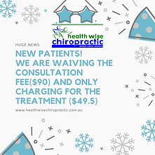 New Patient Promotion Health Wise Chirop