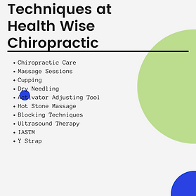 Techniques used at Health Wise Chiropractic in Sunbury and Bundoora Chiropractic Clinic