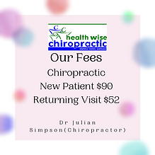 Chiropractic Fees at Health Wise Chiropr