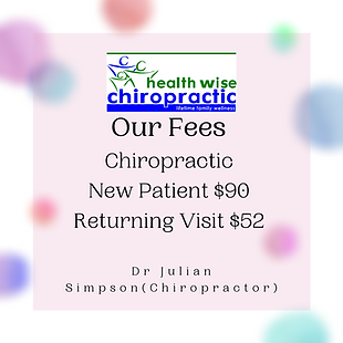 Chiropractic Fees at Health Wise Chiropractic Chiropractic Care In Strathtulloh_Melton #me