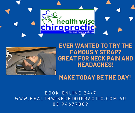 Y Strap available at Health Wise Chiropractic Sunbury and Health Wise Chiropractic Bundoor
