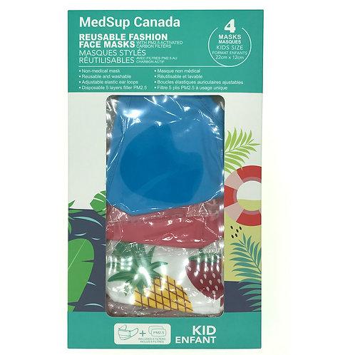 Masques Réutilisable de Protection Enfants, filtre PM2.5,Test GB-2626 2006 civil